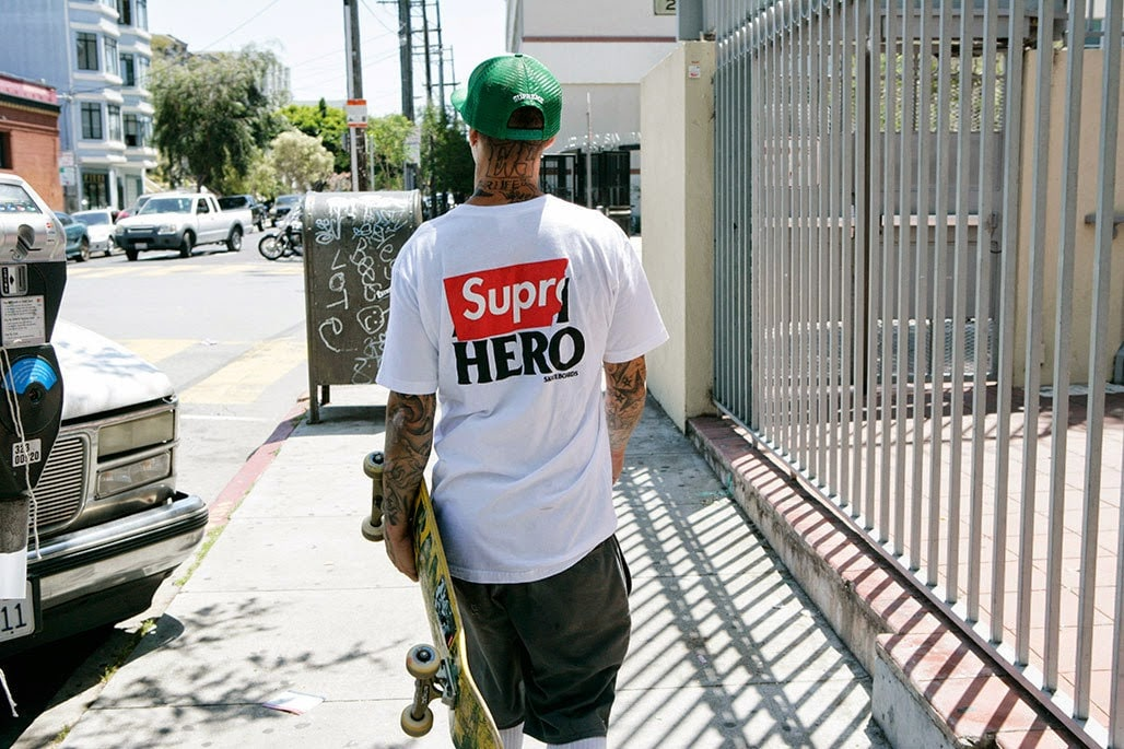 Supreme colabora com a clássica companhia de skate Anti Hero