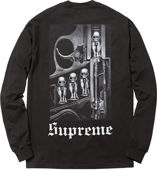 streetwear brasil supreme h r giger 2014 06 - Supreme colabora com H.R. Giger, o mestre por trás de Alien