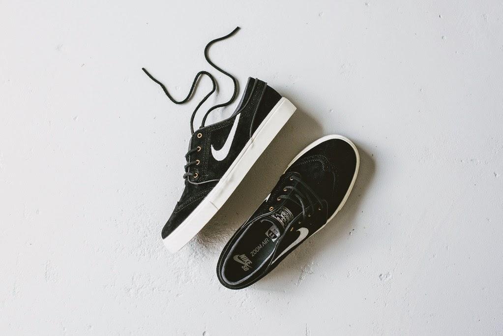 Nike SB Stefan Janoski Black/Gold Wingtip