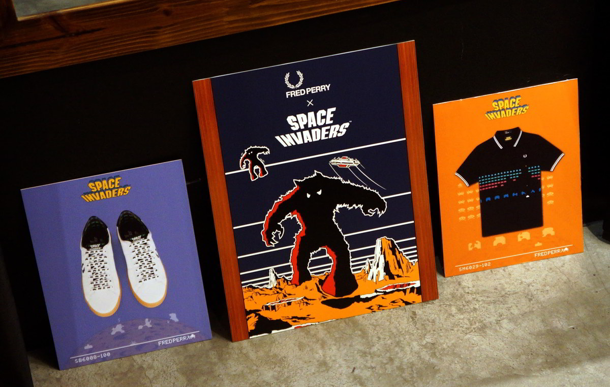Fred Perry x Space Invaders no Brasil