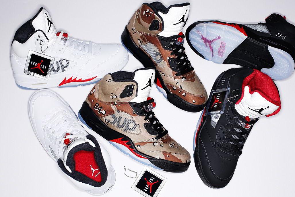 "streetwear brasil supreme air jordan 5 01 - Undefeated x Alpha Industries x Burton ""Trinity"""