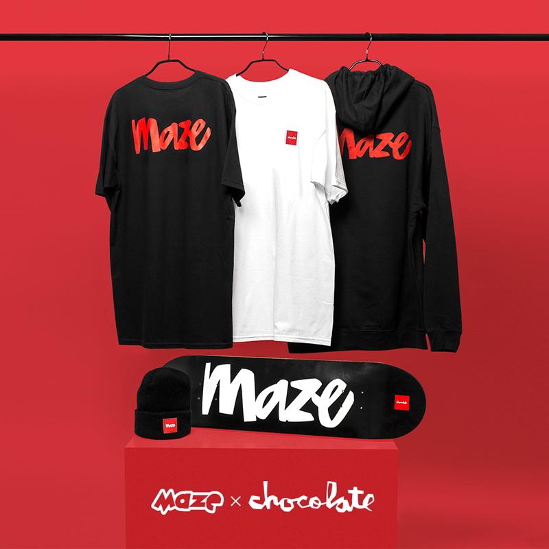 Maze celebra os 20 anos com a Chocolate Skateboards