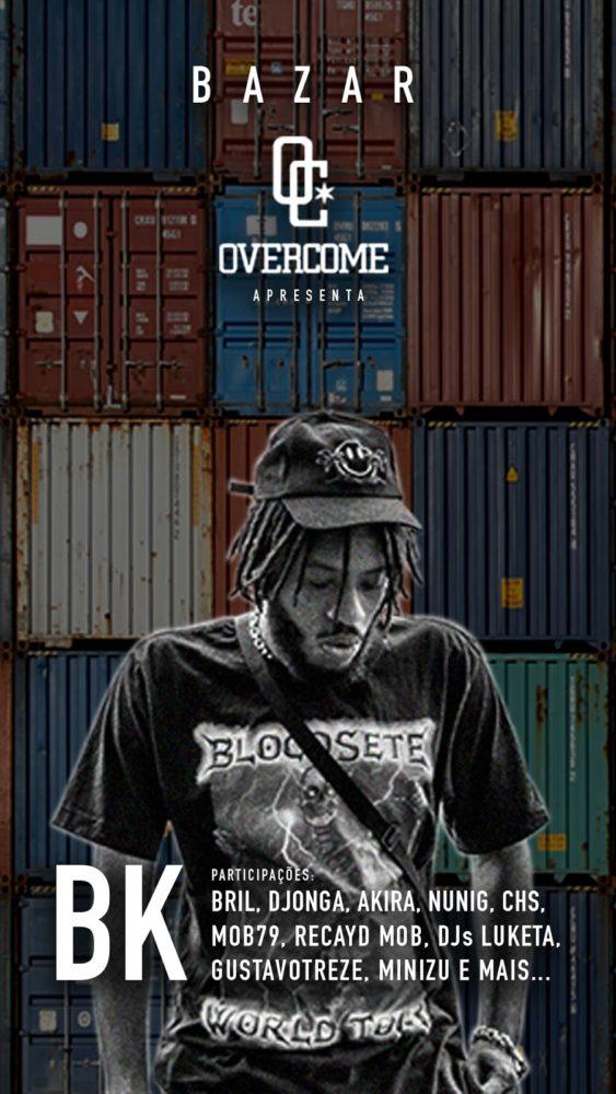 Overcome e Pineapple Co. promovem bazar com show do rapper BK
