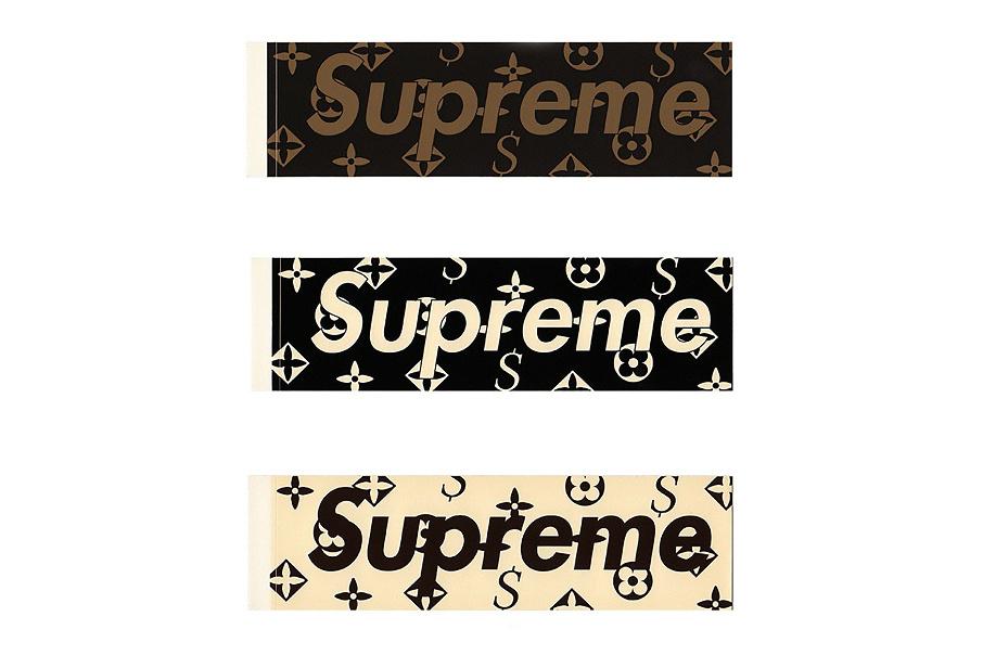 supreme louis vuitton sticker 2000 - Shapes da Supreme com a Louis Vuitton são vendidos por $30,0000