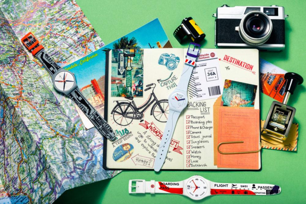 Swatch lança coleção para amantes de viagens