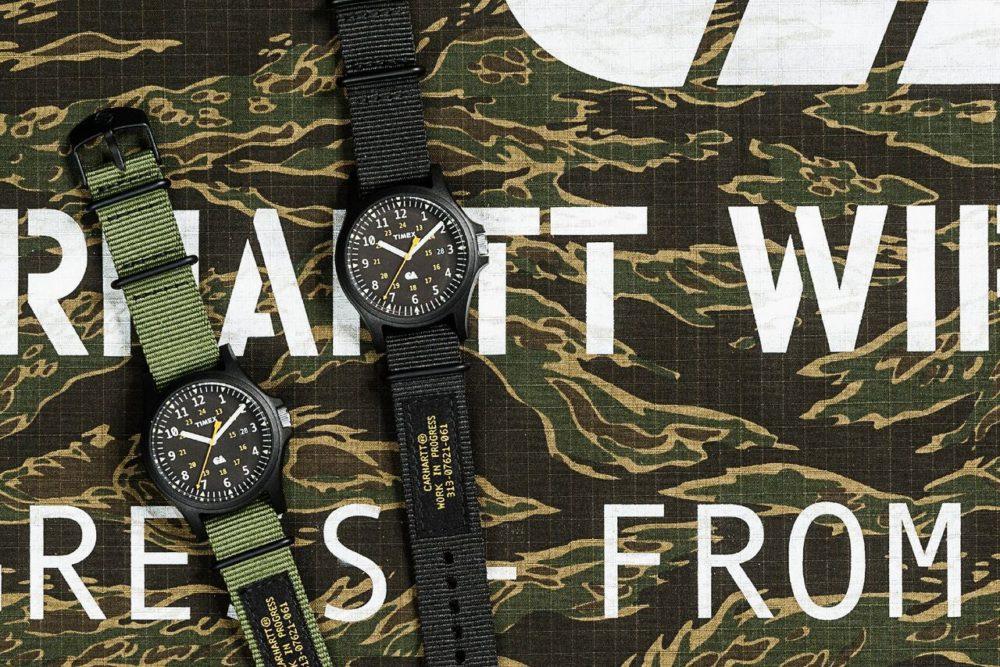 Timex e Carhartt WIP colaboram em relógios militaristas