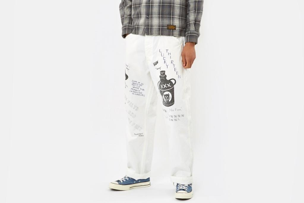 NEIGHBORHOOD lança calça desenhada