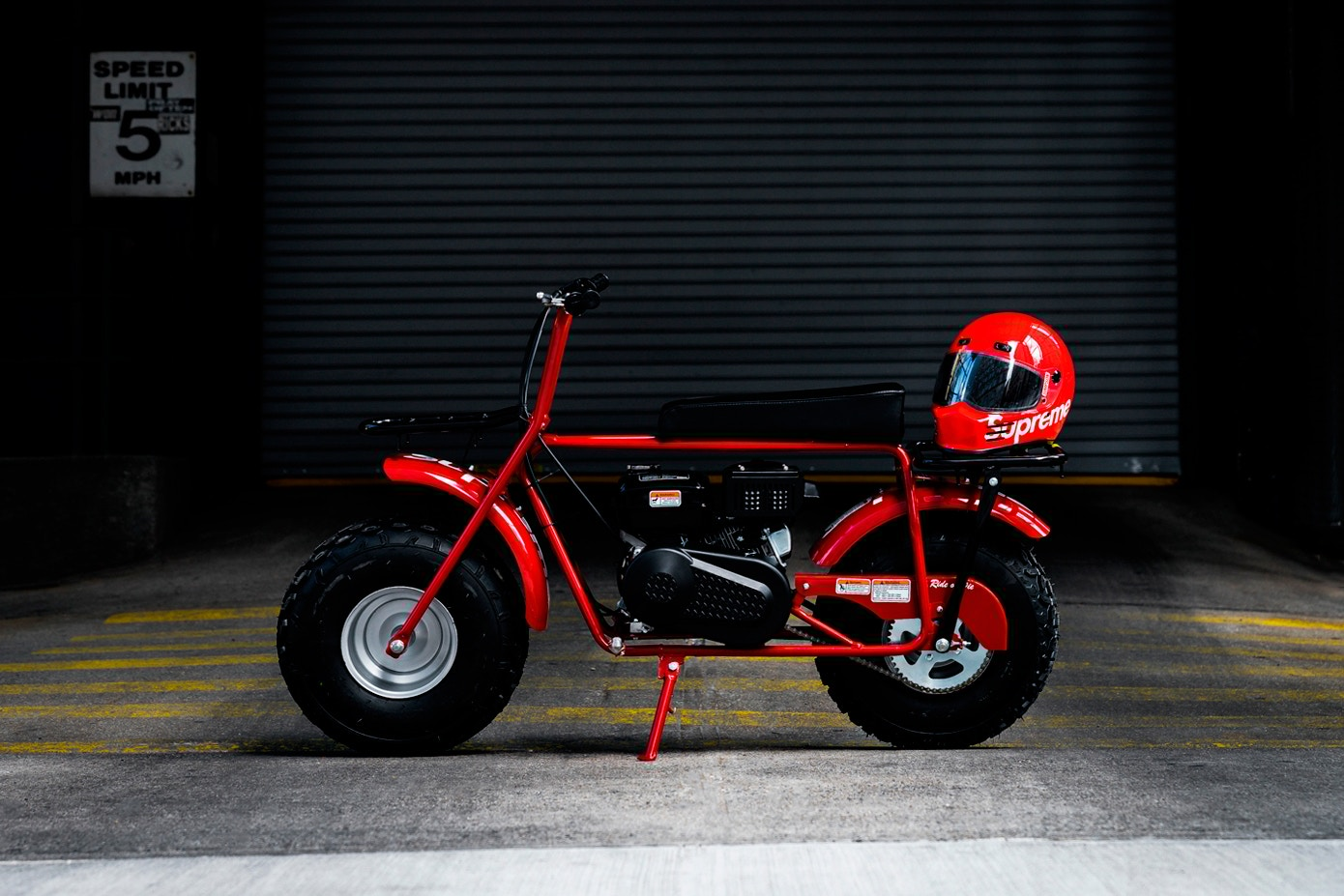 supreme coleman ct200u minibike 01 - Surreal, Rider e High Company são destaque em editorial da Red Light Store