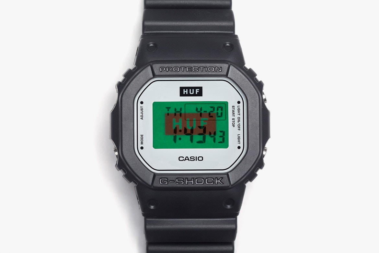HUF comemora 15 anos com relógio em parceria com a G-Shock