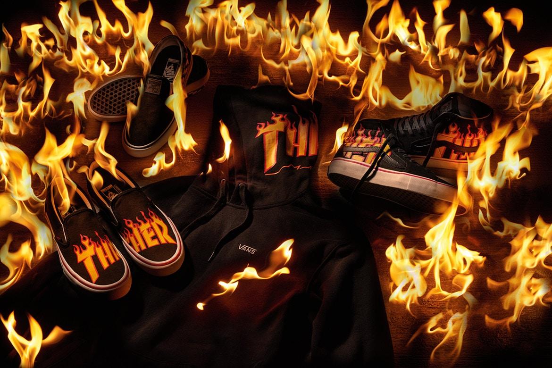 Vans e Thrasher incendeiam tudo em coleção cápsula
