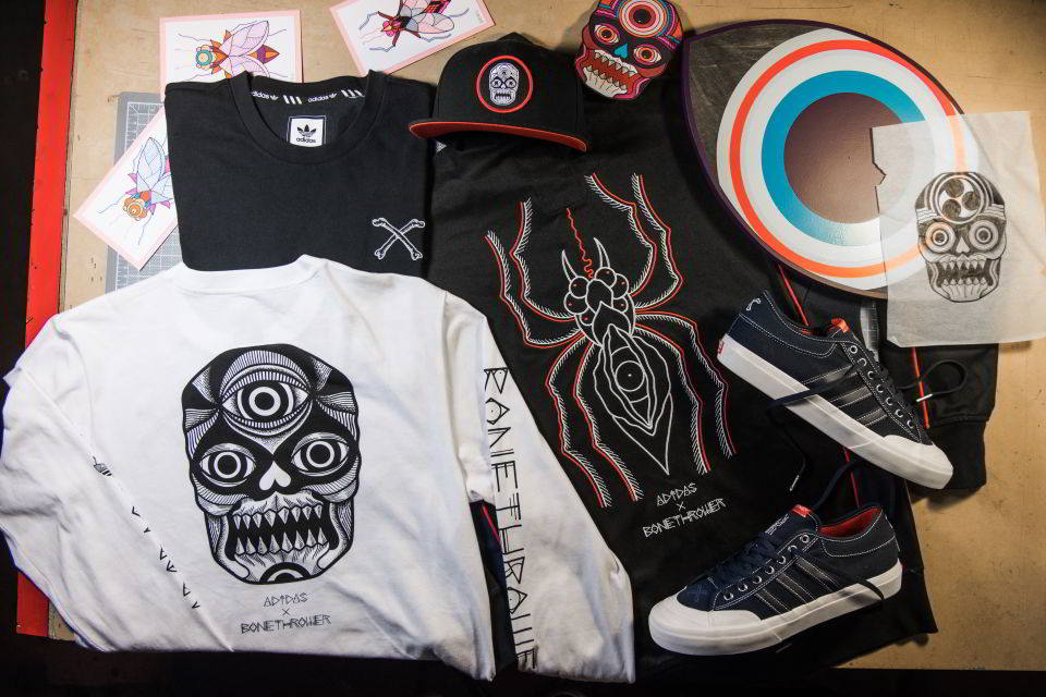 adidas skateboarding bonethrower 08 - adidas Skateboarding colabora com artista Bonethrower