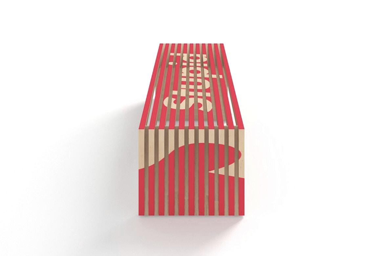 dan brunn moveis streetwear 03 - Arquiteto cria bancos com logos icônicos do streetwear