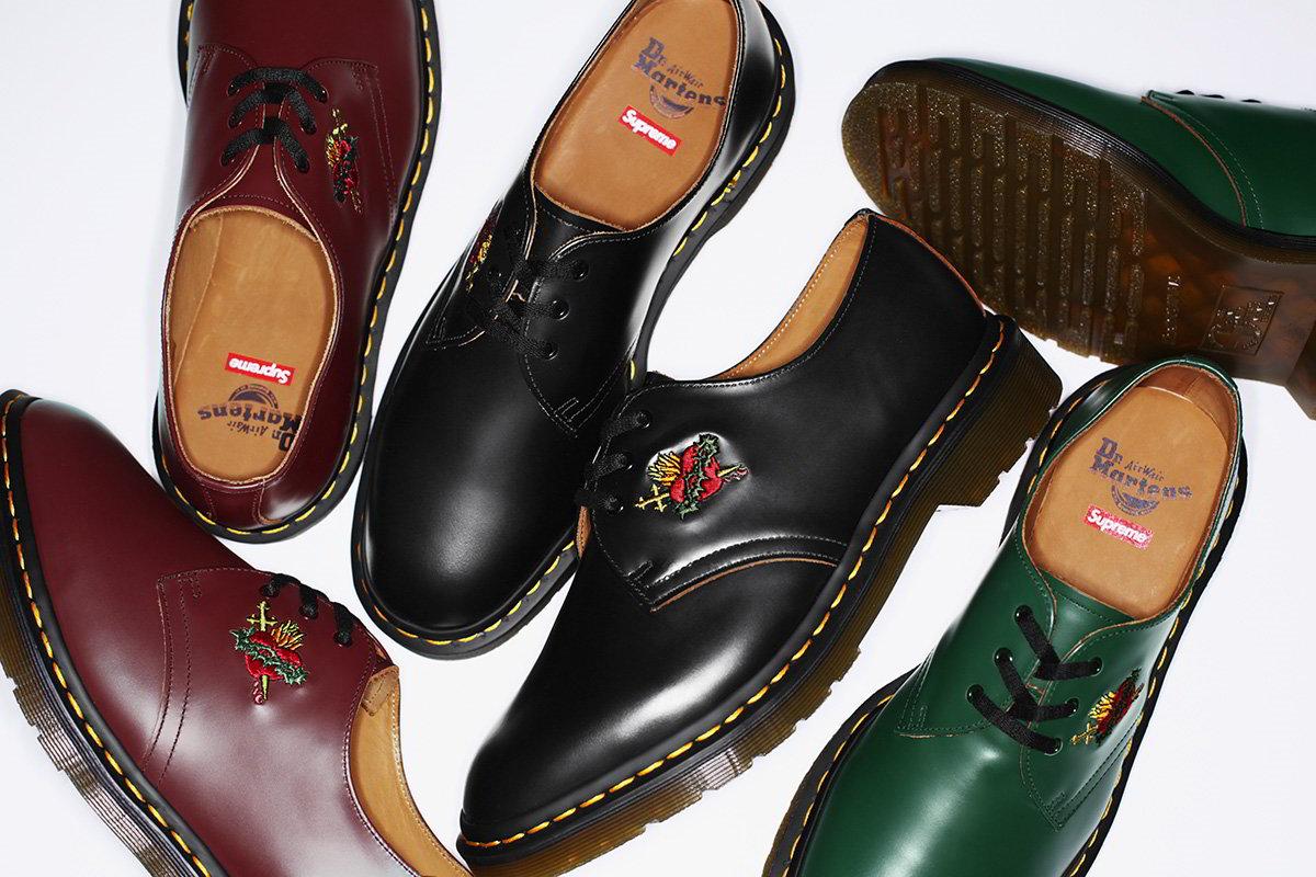 Supreme e Dr. Martens lançam novos sapatos customizados