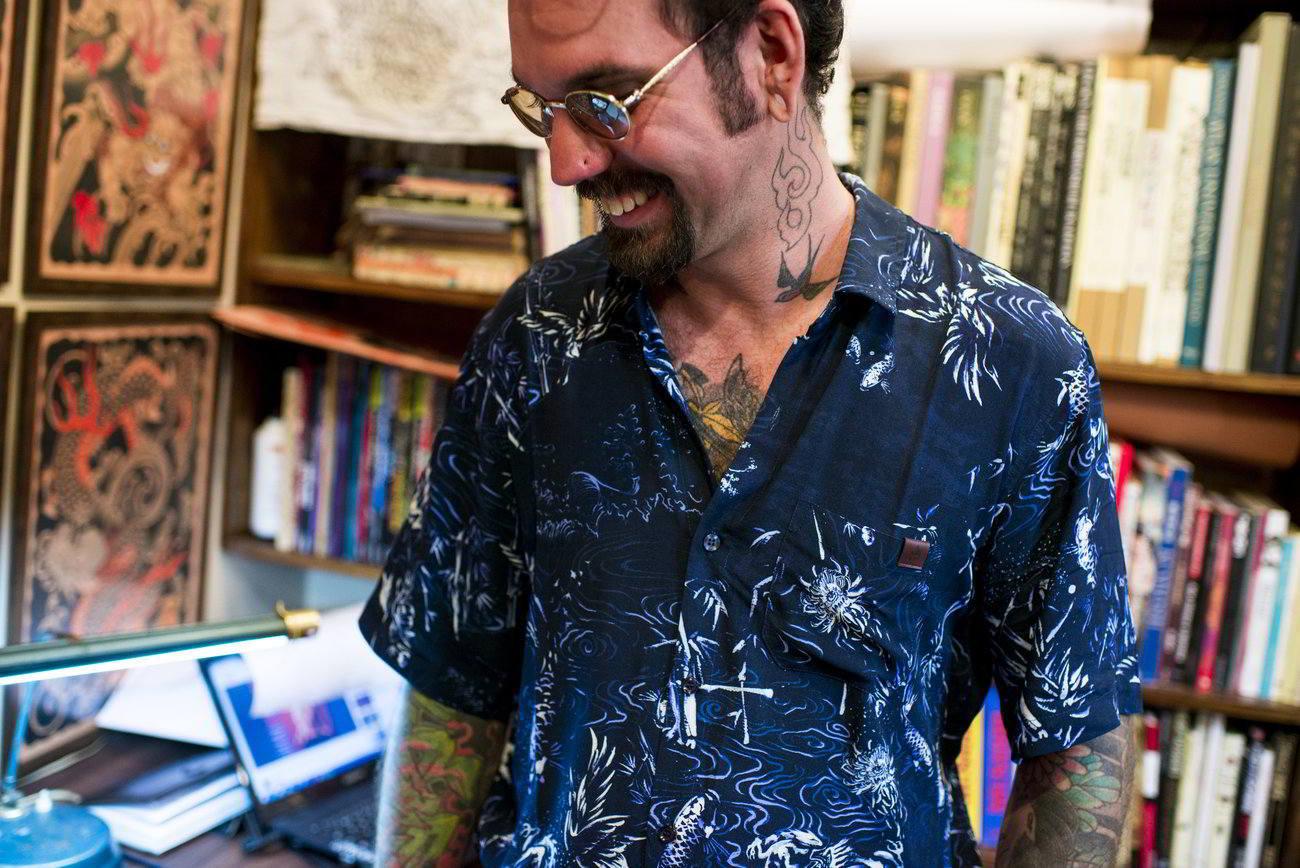 dion ochner camisa dragao 01 - Dragões, peixes e pássaros estampam nova camisa da Dion Ochner