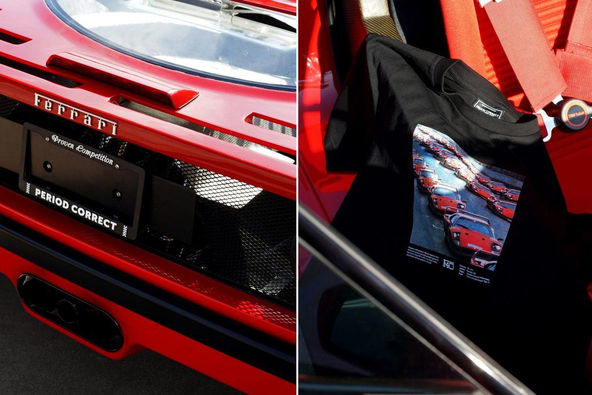 Period Correct pisa fundo em coleção inspirada na Ferrari F40