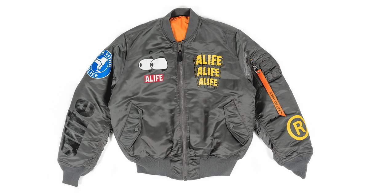 alife alpha industries jaqueta ma1 0 - ALIFE lança versão customizada da jaqueta MA-1 da Alpha Industries