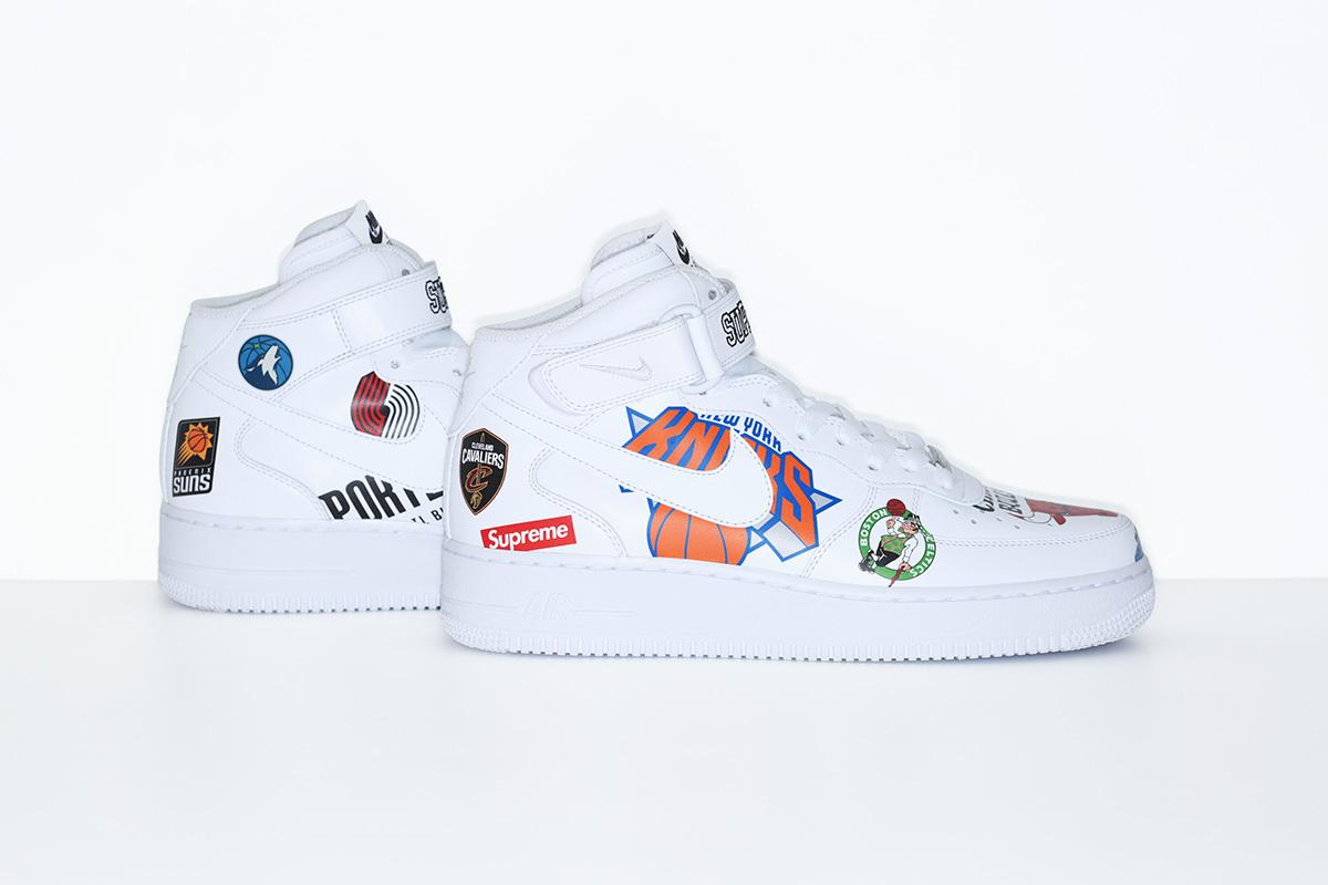 supreme nike nba colecao 10 - Supreme e Nike presenteiam fãs do basquete americano