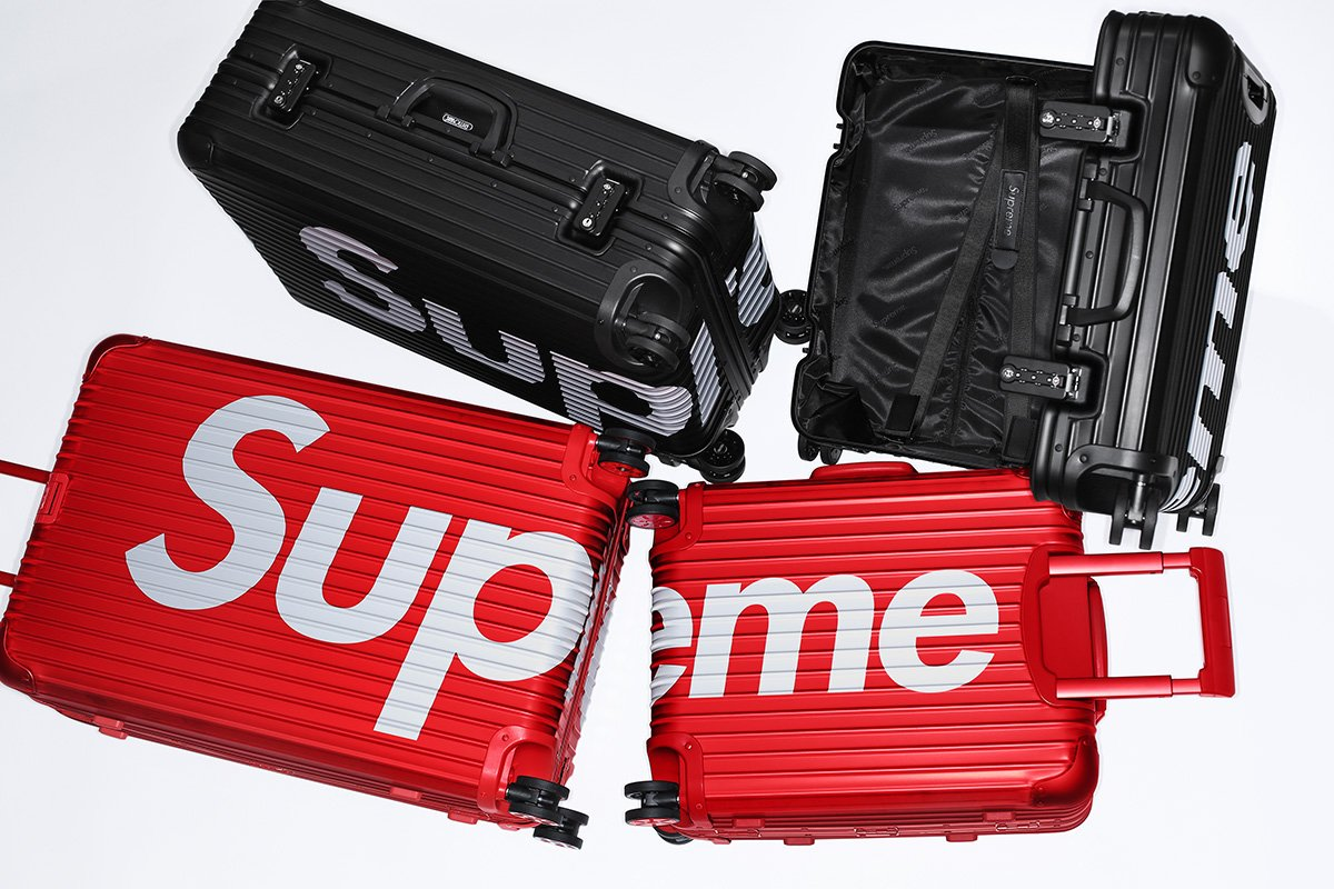 Viaje no hype e com estilo com as malas da Supreme com a RIMOWA