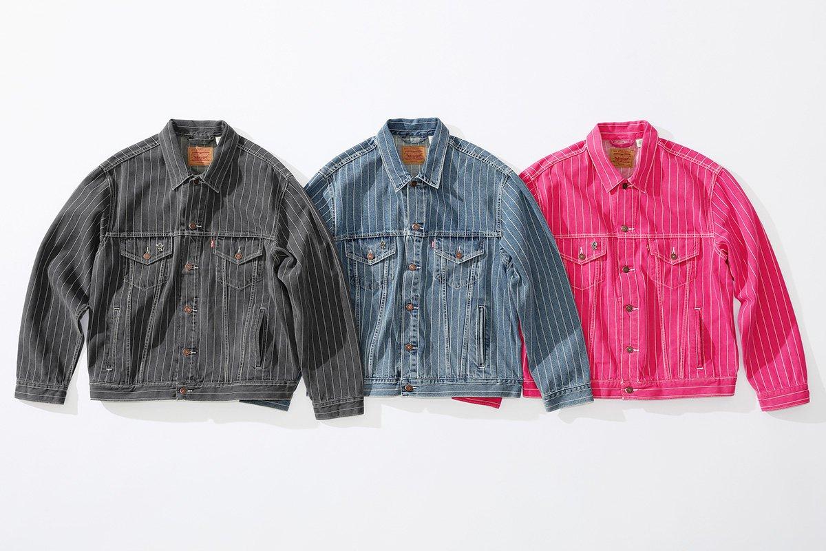 supreme levis primavera verao 2018 03 - Supreme e Levi's lançam conjuntos jeans com risca de giz