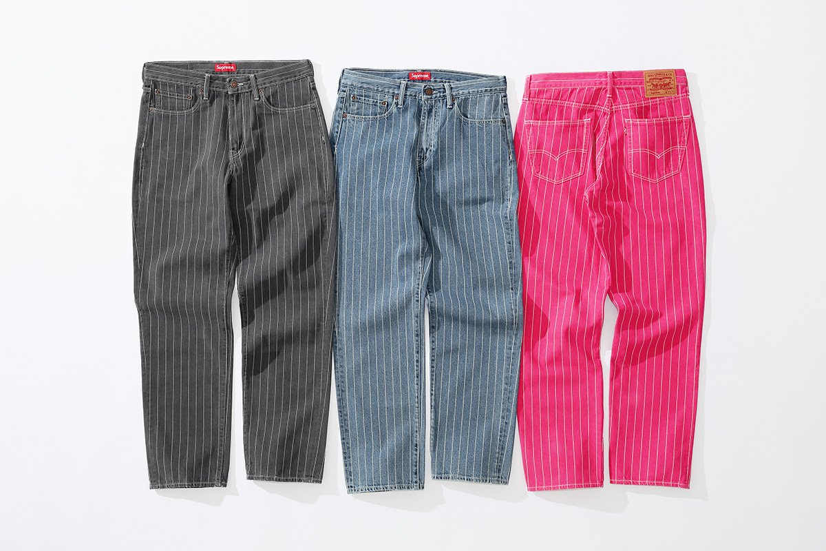 supreme levis primavera verao 2018 04 - Supreme e Levi's lançam conjuntos jeans com risca de giz