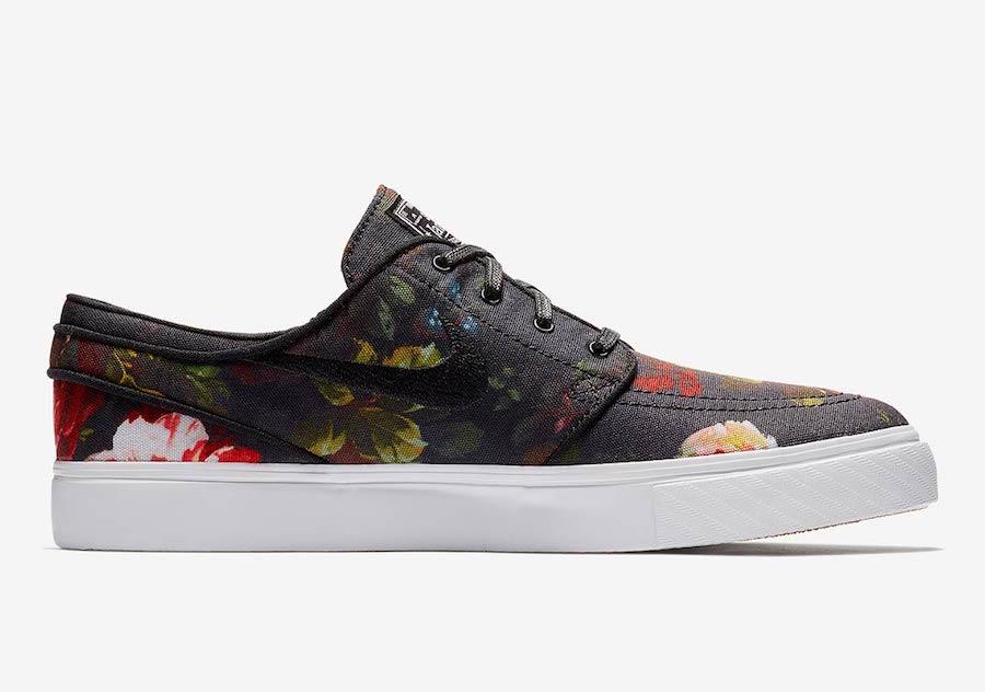nike sb stefan janoski floral 615957 900 3 - Nike SB Stefan Janoski recebe estampa floral realista