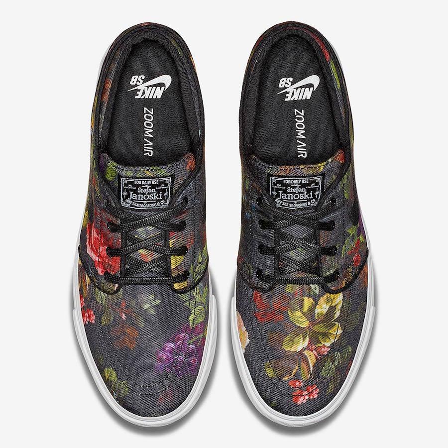 nike sb stefan janoski floral 615957 900 4 - Nike SB Stefan Janoski recebe estampa floral realista