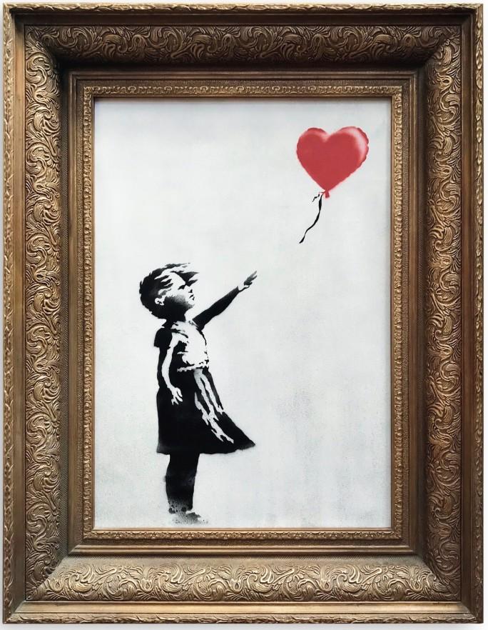 banksy destroi pintura apos ser leiloada 2 - Banksy destrói pintura após ser leiloada por 5 milhões de reais