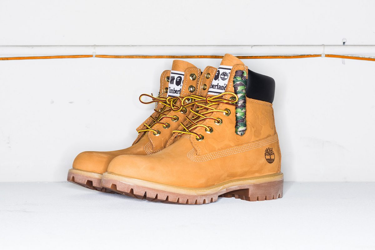 bape timberland undefeated bota 6 inch collab 1 - BAPE, Timberland e UNDEFEATED lançam versão da bota 6 Inch
