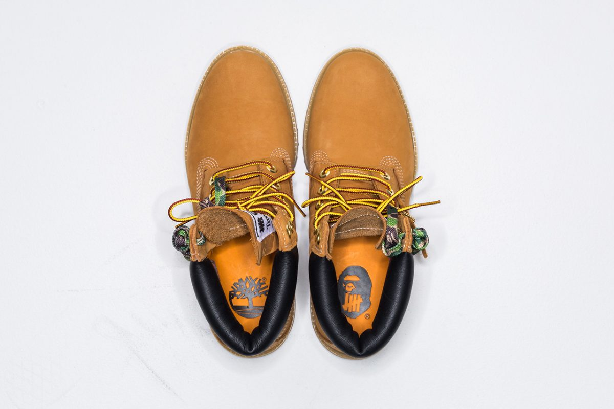 bape timberland undefeated bota 6 inch collab 3 - BAPE, Timberland e UNDEFEATED lançam versão da bota 6 Inch