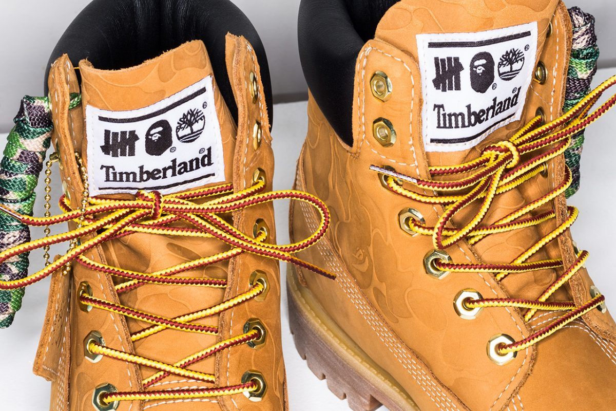 bape timberland undefeated bota 6 inch collab 4 - BAPE, Timberland e UNDEFEATED lançam versão da bota 6 Inch