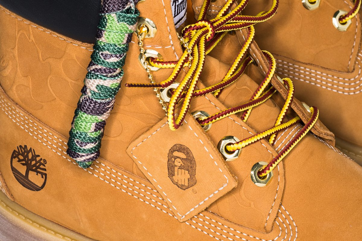 bape timberland undefeated bota 6 inch collab 5 - BAPE, Timberland e UNDEFEATED lançam versão da bota 6 Inch