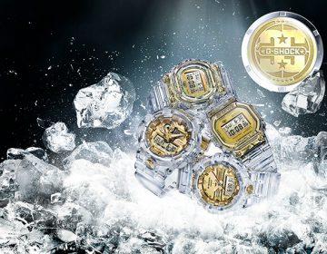 """G-Shock celebra 35 anos com coleção """"Glacier Gold"""""""