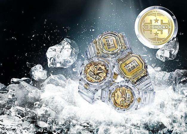 """g shock glacier gold colecao 01 - G-Shock celebra 35 anos com coleção """"Glacier Gold"""""""
