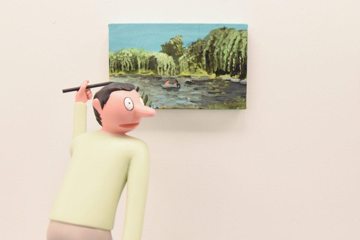 """jean jullien arsham fieg gallery gib exhibition 1 - Jean Jullien exibe """"GIB"""" na galeria de Daniel Arsham e Ronnie Fieg"""