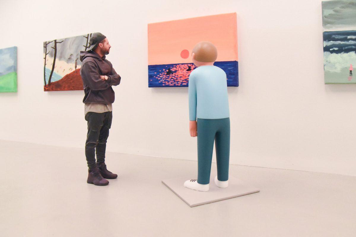 """jean jullien arsham fieg gallery gib exhibition 5 - Jean Jullien exibe """"GIB"""" na galeria de Daniel Arsham e Ronnie Fieg"""