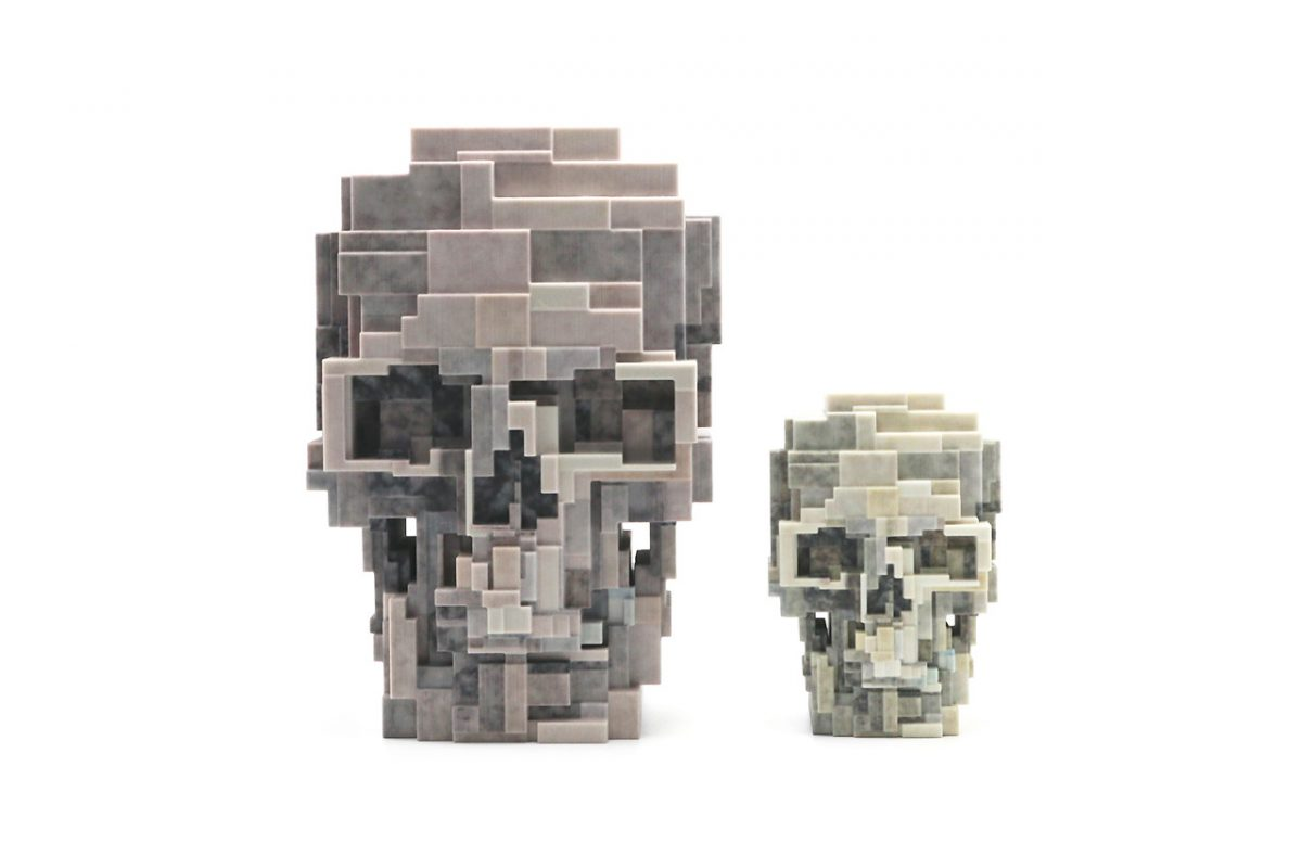 unique board adam lister skull sculpture 01 - Unique Board e Adam Lister lançam escultura de crânio em 3D