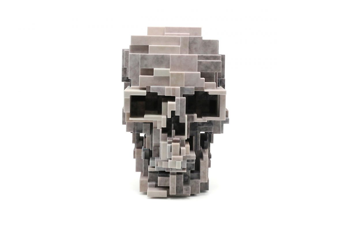 unique board adam lister skull sculpture 02 - Unique Board e Adam Lister lançam escultura de crânio em 3D