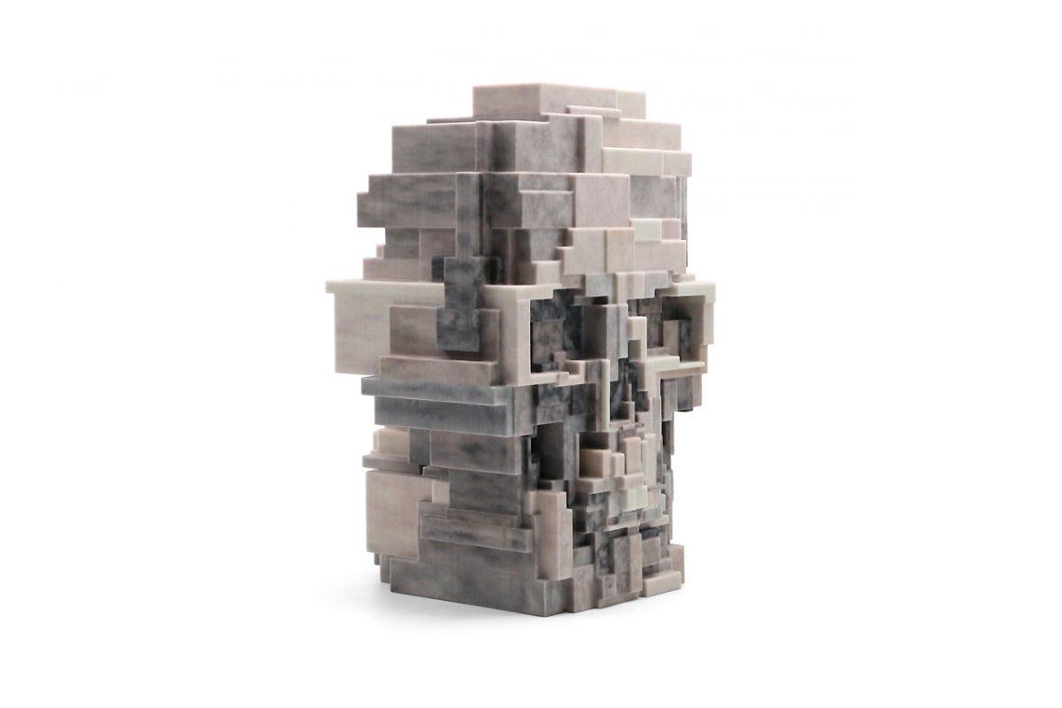 unique board adam lister skull sculpture 04 - Unique Board e Adam Lister lançam escultura de crânio em 3D