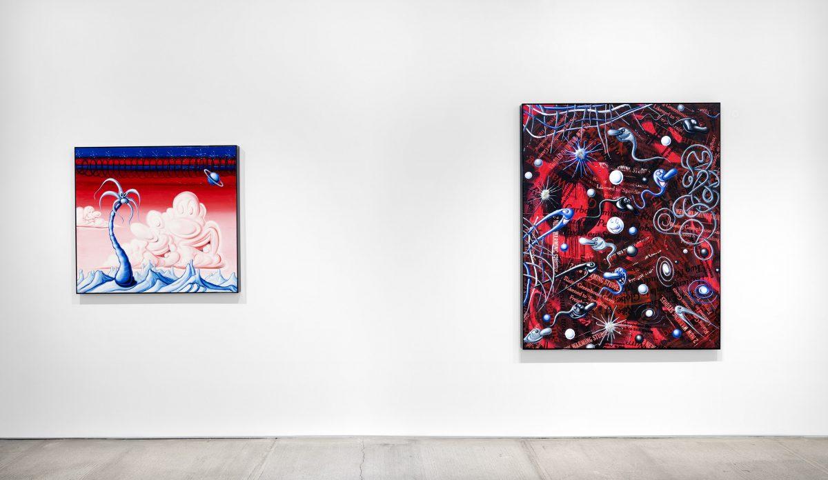 """kenny scharf blue blood totah gallery 01 - Kenny Scharf apresenta novos trabalhos na exibição """"Blue Blood"""""""