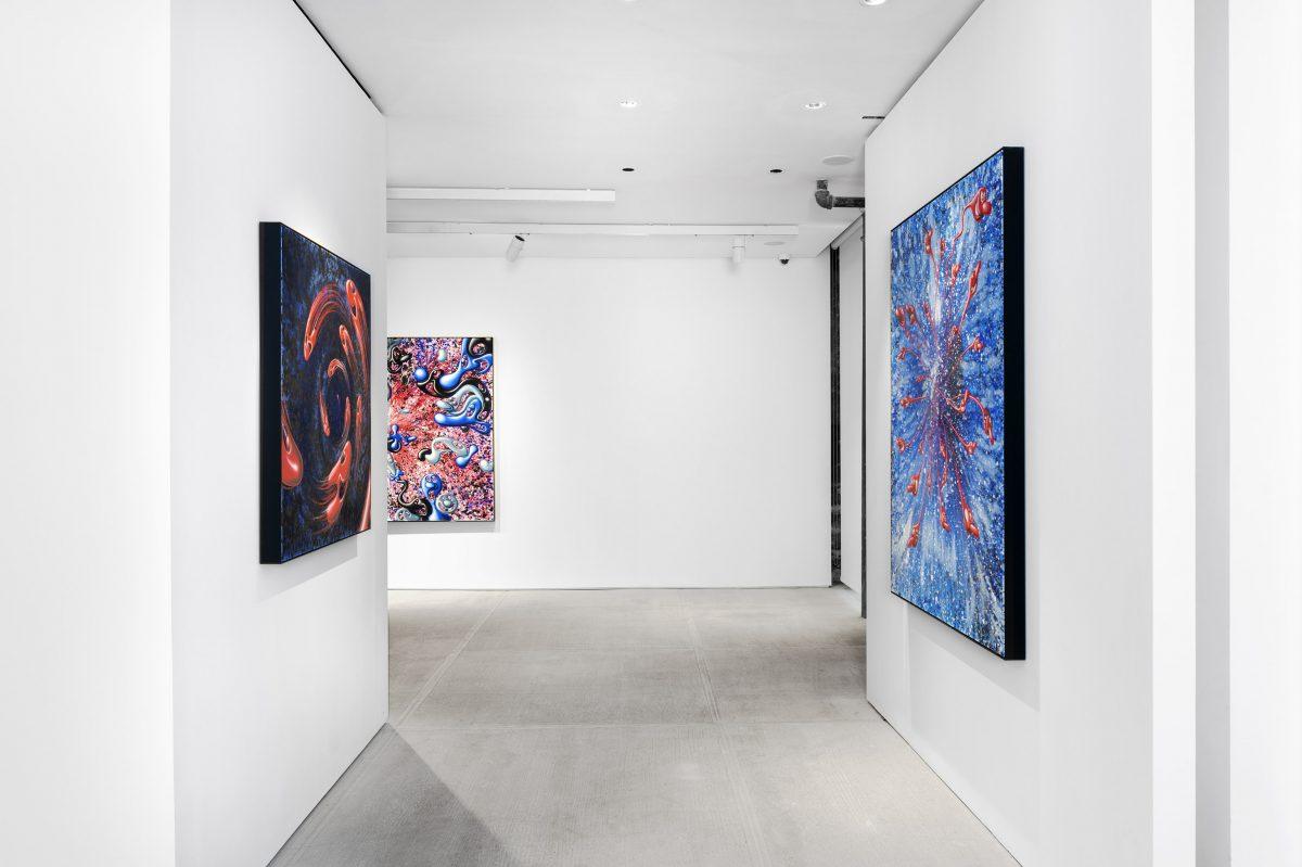 """kenny scharf blue blood totah gallery 03 - Kenny Scharf apresenta novos trabalhos na exibição """"Blue Blood"""""""
