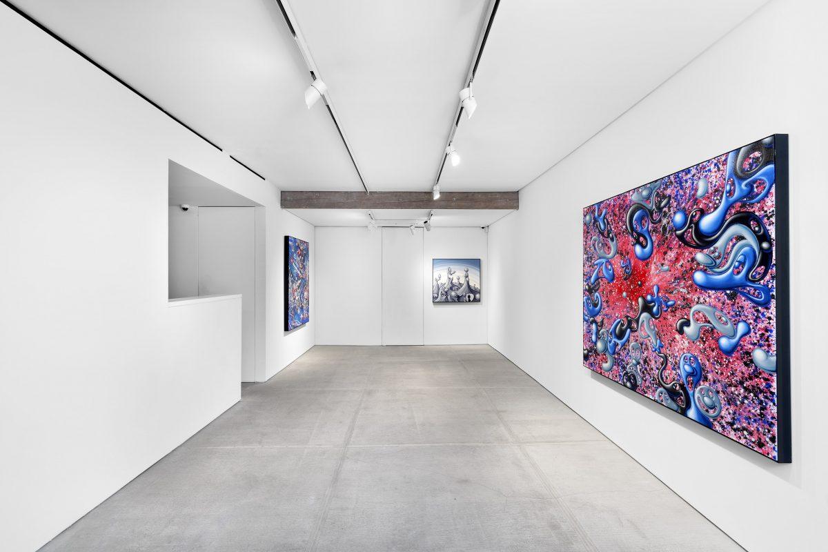 """kenny scharf blue blood totah gallery 04 - Kenny Scharf apresenta novos trabalhos na exibição """"Blue Blood"""""""