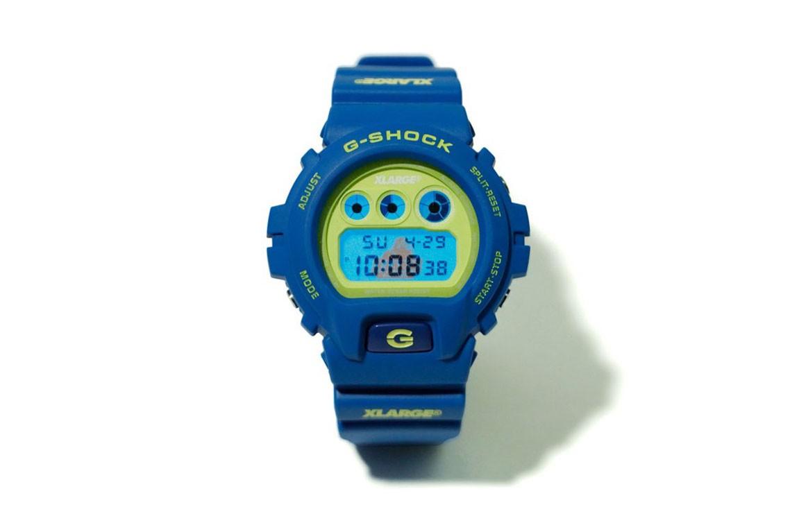 x large g shock DW 6900 collab relogio 01 - X-LARGE e G-SHOCK colaboram em relógio com cores vibrantes