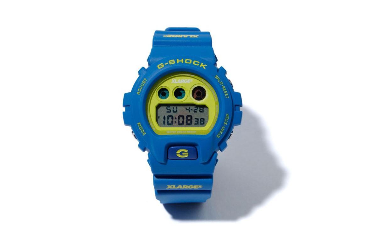 x large g shock DW 6900 collab relogio 02 - X-LARGE e G-SHOCK colaboram em relógio com cores vibrantes