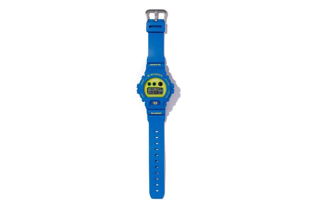 x large g shock DW 6900 collab relogio 03 - X-LARGE e G-SHOCK colaboram em relógio com cores vibrantes