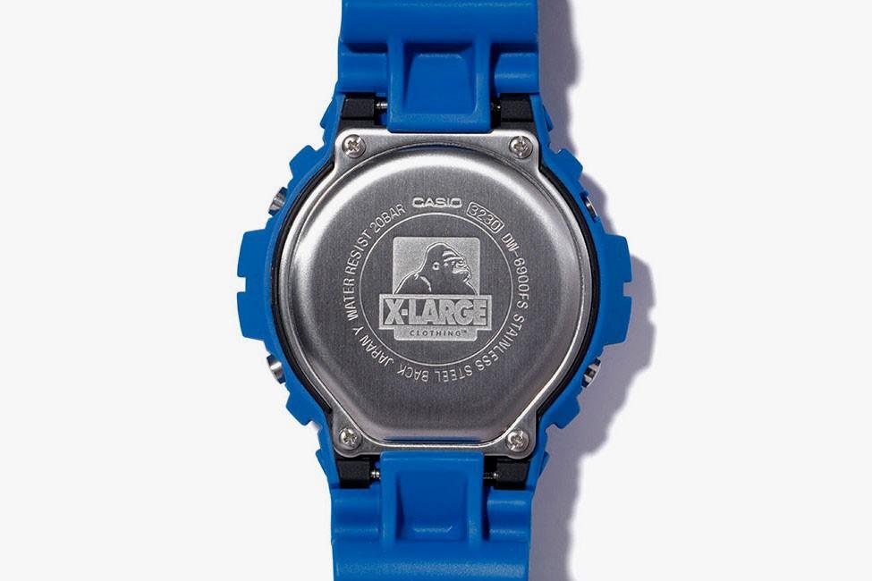 x large g shock DW 6900 collab relogio 04 - X-LARGE e G-SHOCK colaboram em relógio com cores vibrantes